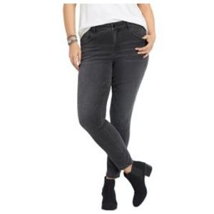 MAURICES GREY PLUS SKINNY STRETCH JEGGINGS